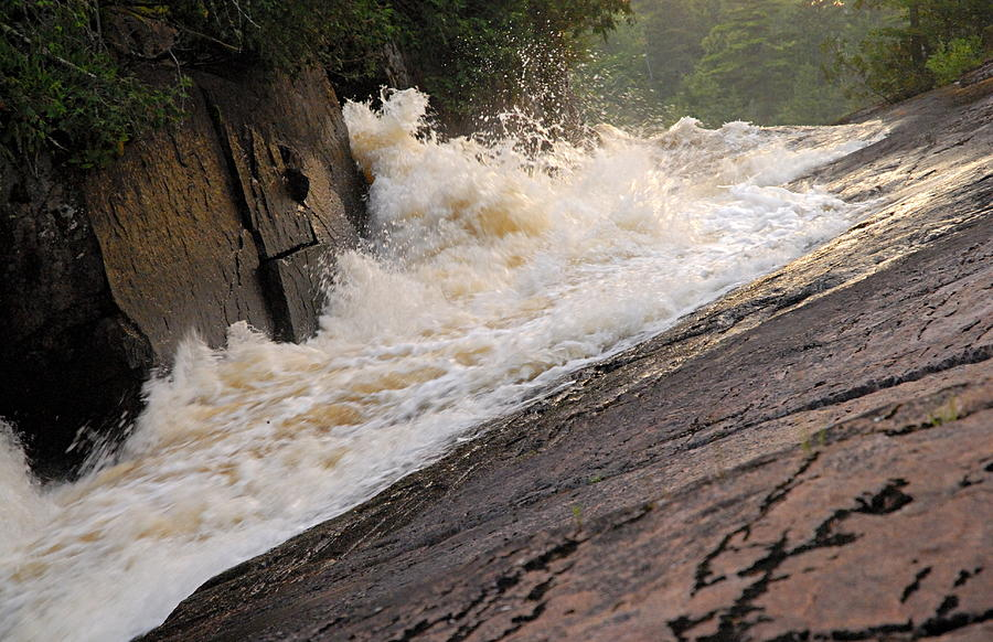 Boundary Waters Canoe Area Wilderness Photograph - Rebecca Falls At Sunset by Larry Ricker