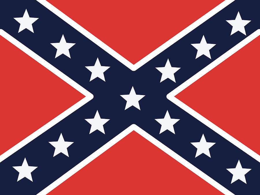 Rebel Flag Digital Art - Rebel Flag by James Smullins