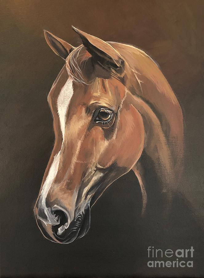 Horse Painting - Rebel by Hunter Jay