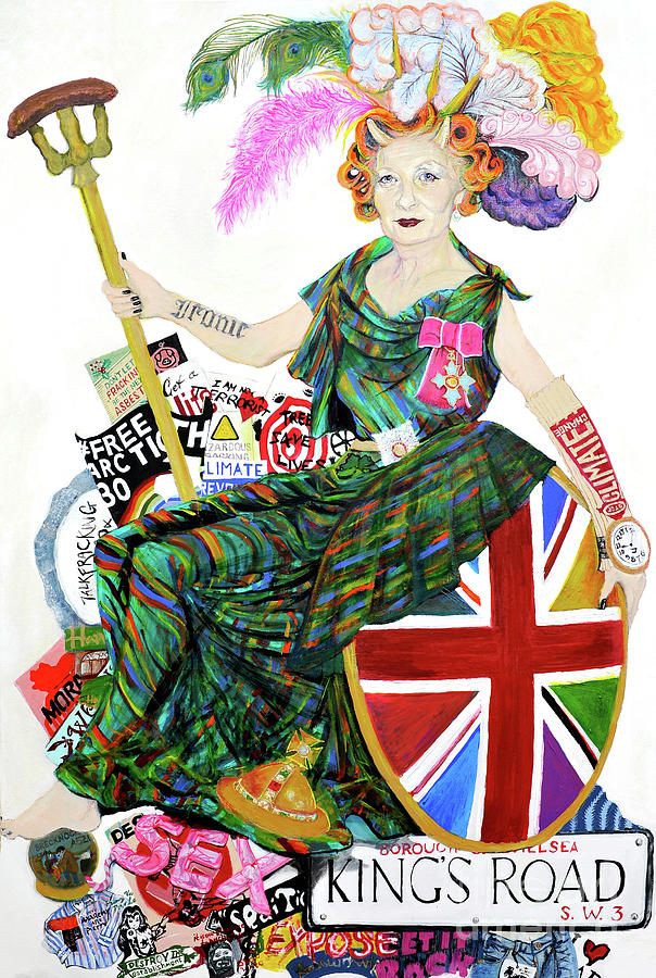 Vivienne Westwood Painting - Rebel With A Cause by Michelle Deyna-Hayward