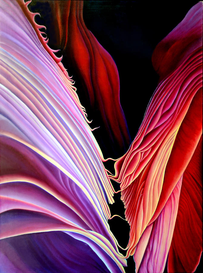 Slot Canyons Painting - Rebirth by Anni Adkins