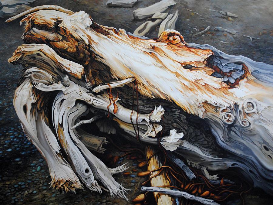 Driftwood Painting - Rebirth by Chris Steinken