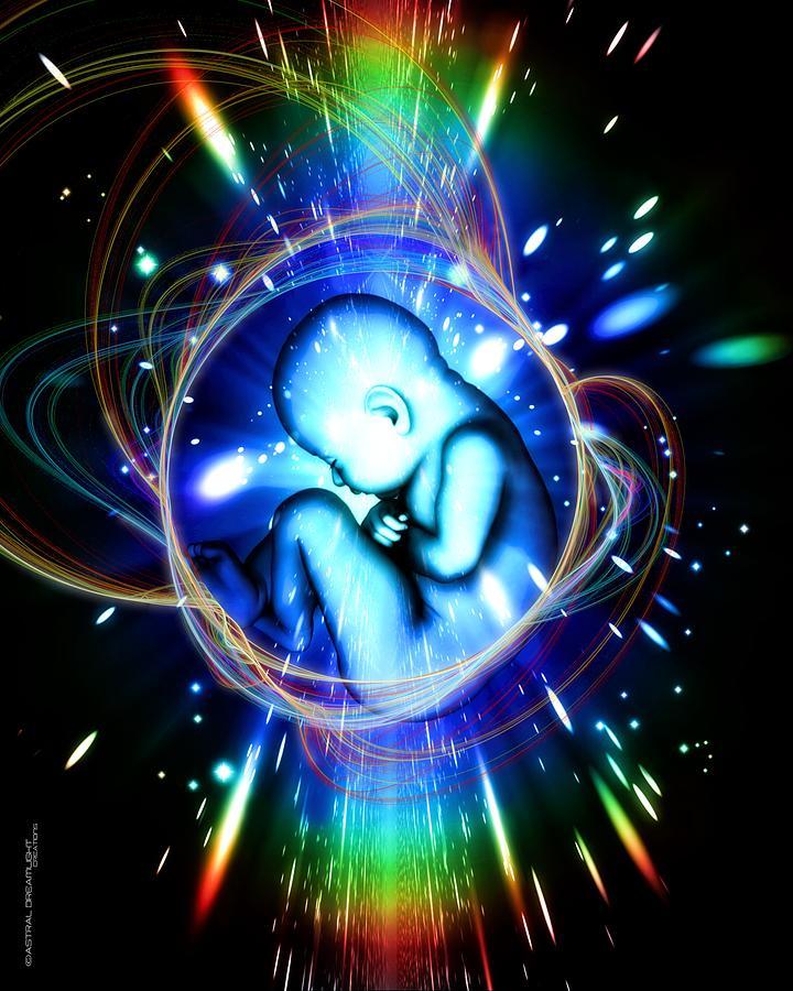 Newborn Painting - Rebirth by Dreamlight  Creations