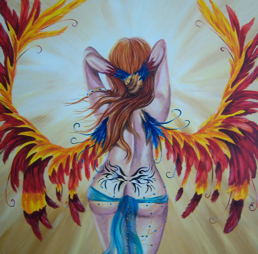 Fairy Painting - Rebirth by Heather Valentin