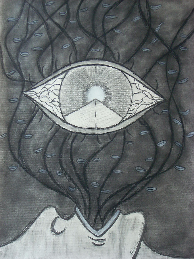 Eyes Drawing - Rebirth by Marsha Ferguson