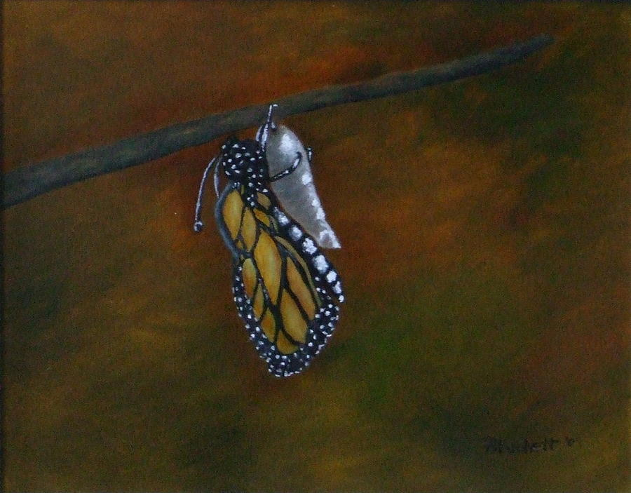 Insects Painting - Rebirth by Rebecca  Fitchett