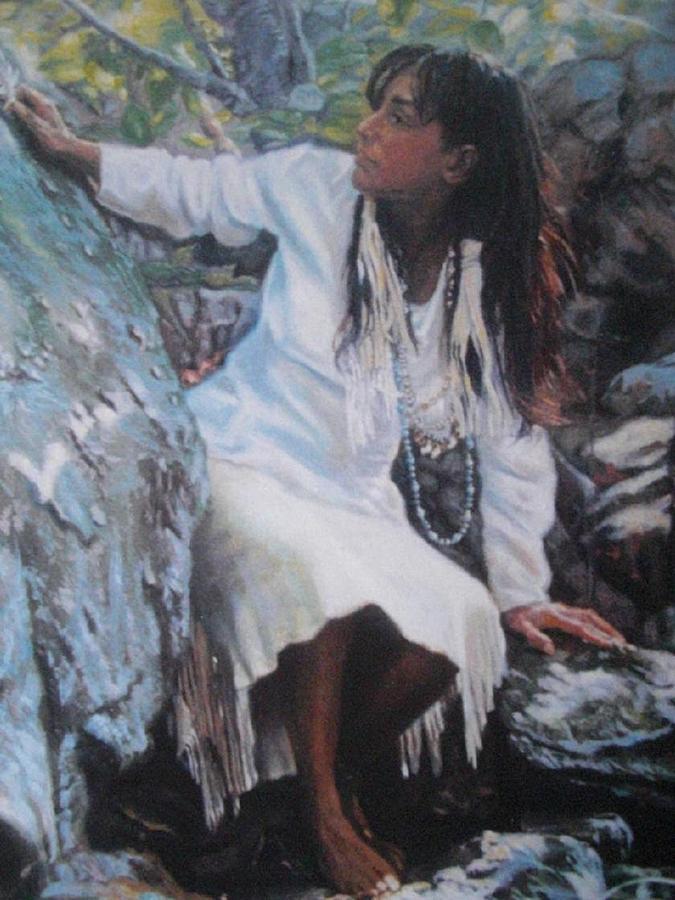 Indian Painting - Reborn by Deborah  Macy