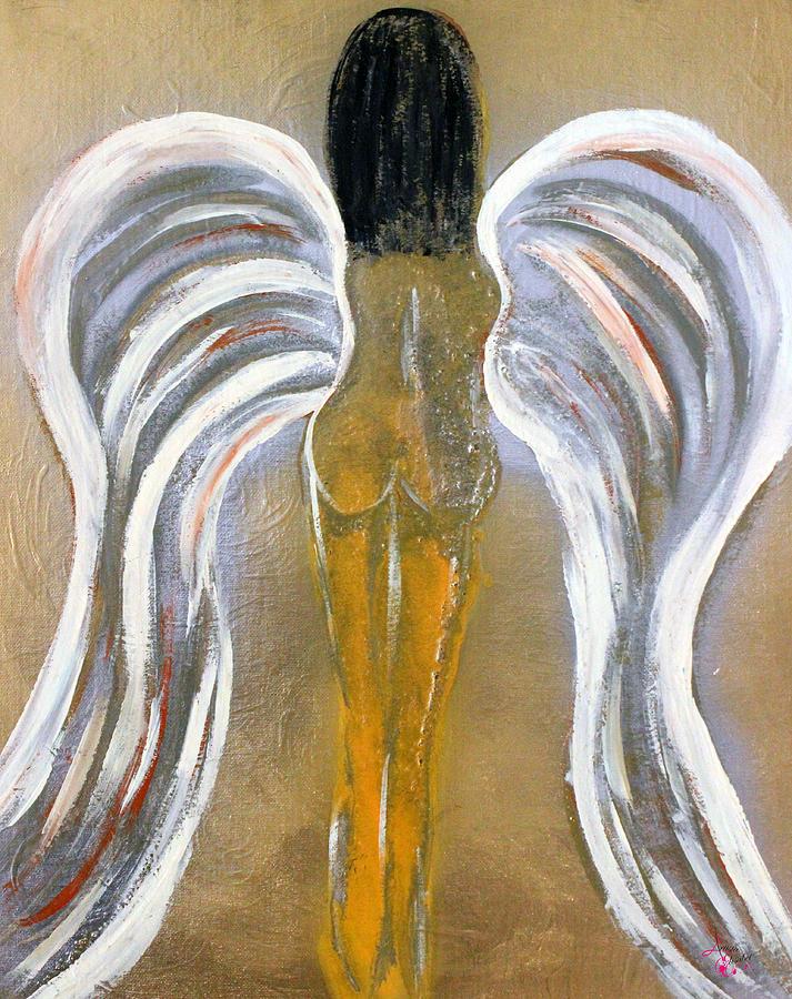 Woman Painting - Recarnation by Artista Elisabet