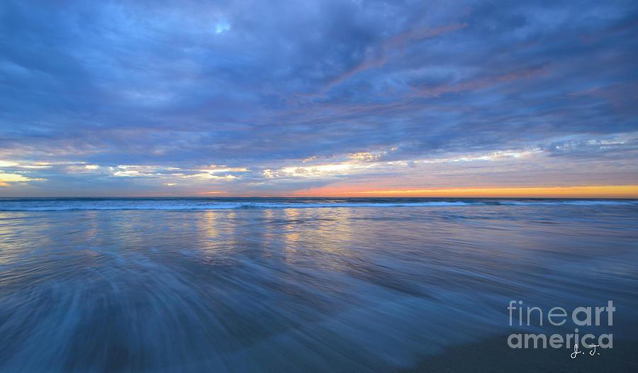 Receding Waves Oceanside Photograph