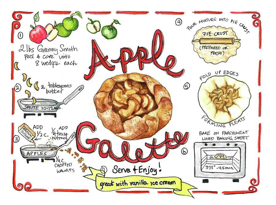 Recipe- Apple Galette by Diane Fujimoto