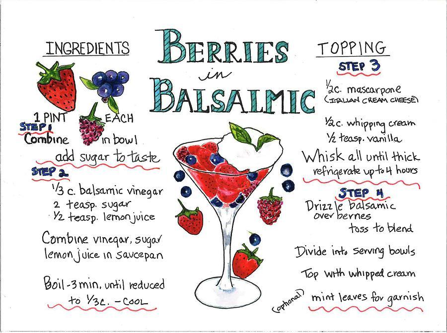 Recipe- Berries in Balsamic by Diane Fujimoto