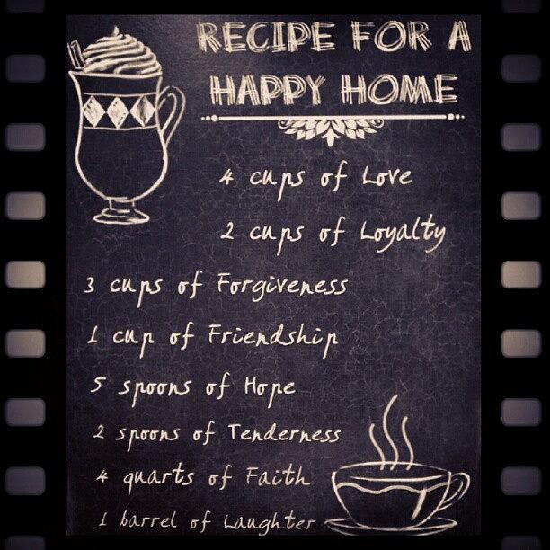Recipe For A Happy Home Recipe Happy Photograph By Fotochoice