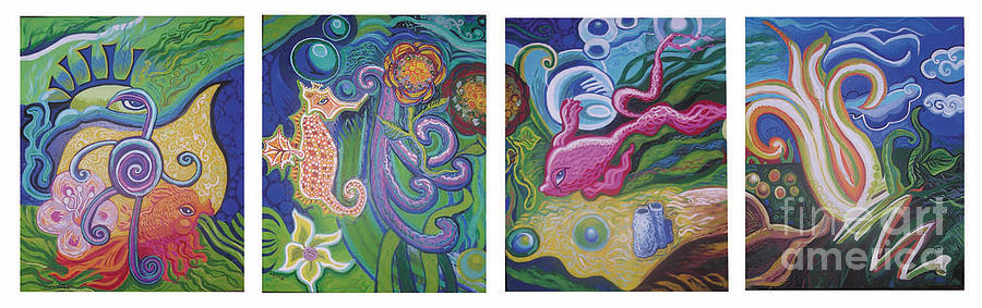 Sea Animals Painting - Reciprocal Liason Of The Sea by Genevieve Esson