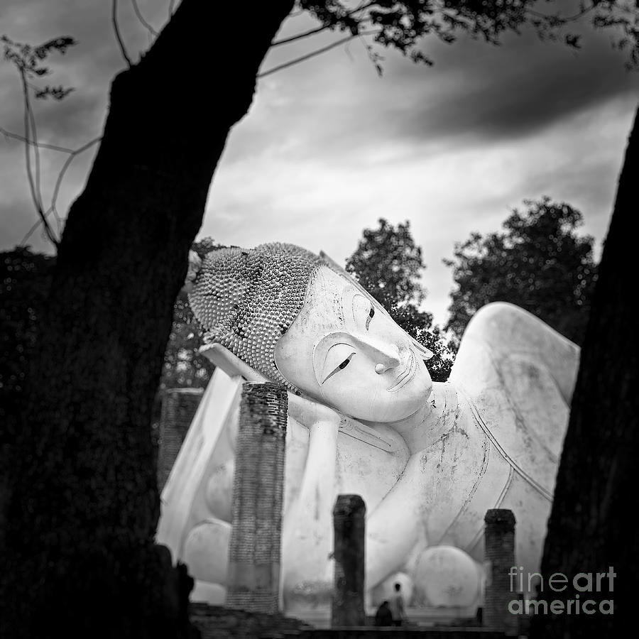 Asia Photograph - Reclining Buddha  by Pornsak Na nakorn