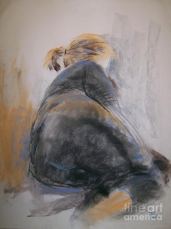 Figurative Painting - Reclining Figure by Tina Siddiqui