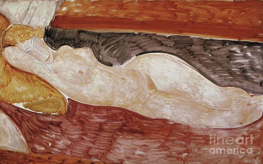 Amedeo modiglani reclining nude painting
