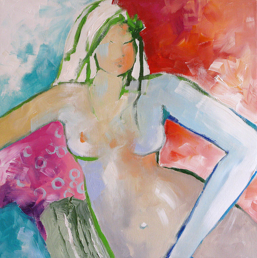 Nude Painting - Reclining Nude by Linda Monfort