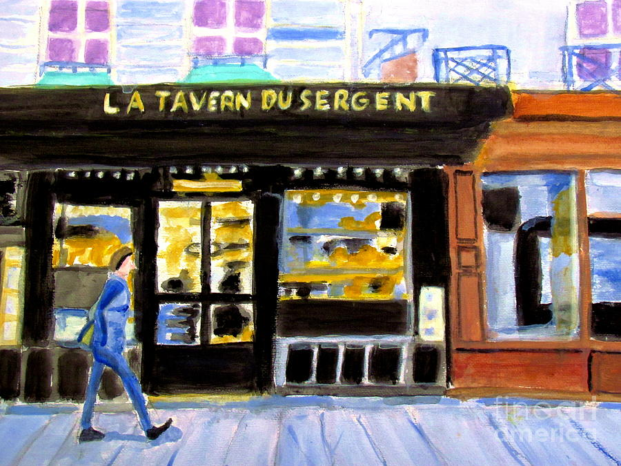 Parisian Stores Painting - Reconnoiter Parisian Stores In Your Dreams by Stanley Morganstein