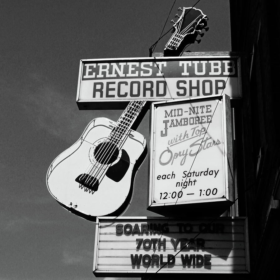 Nashville Photograph - Record Shop- by Linda Woods by Linda Woods