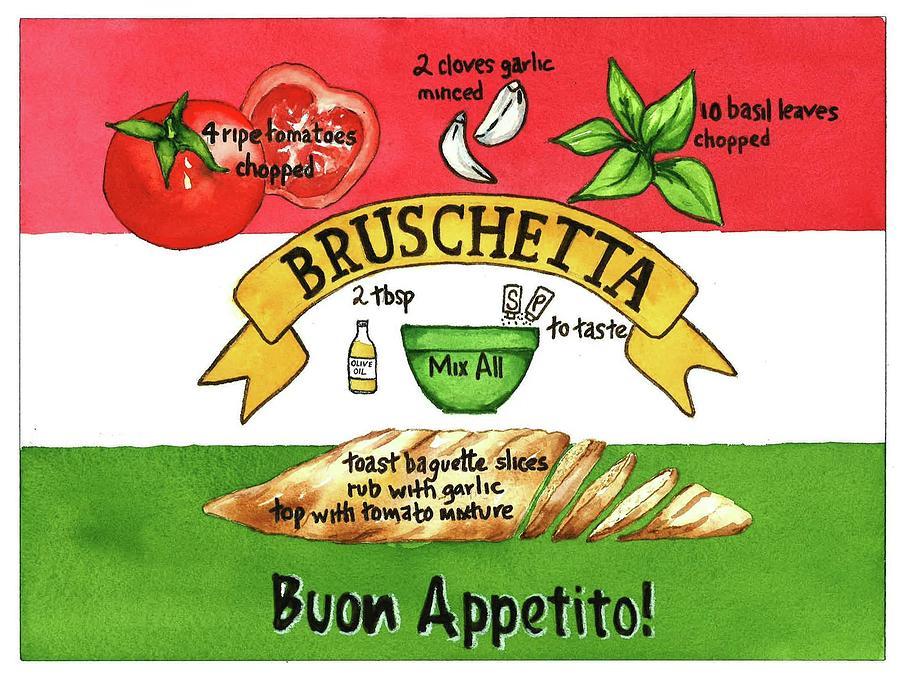 Recpe-Bruschetta by Diane Fujimoto