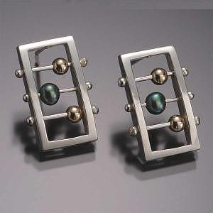 Earrings Jewelry - Rectangle Abacus Earring 2 by Danielle MIller-Gilliam