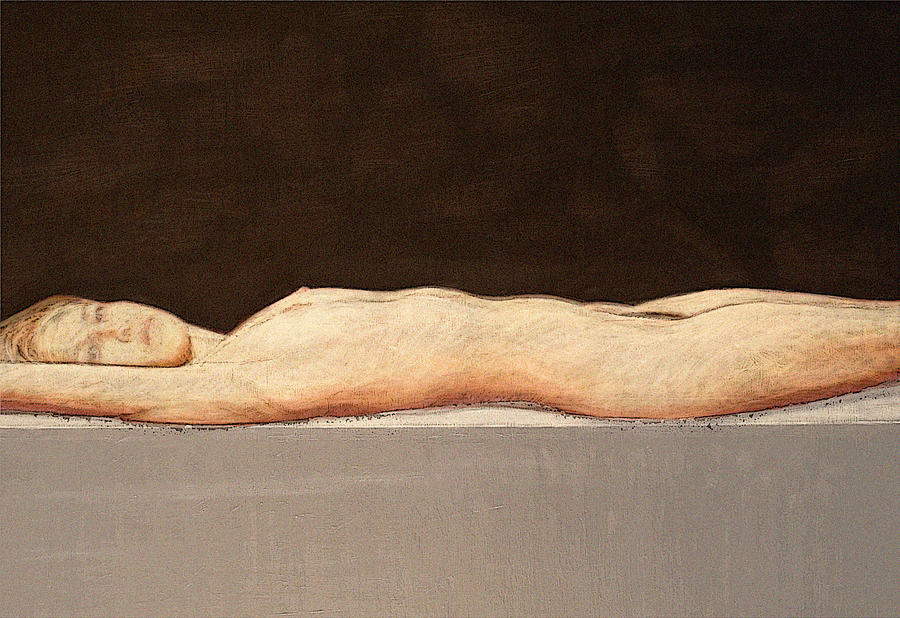 Nude Painting - Recumbent Nude by Philip Smeeton