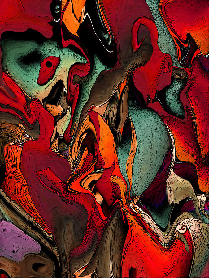 Abstract Expression Painting - Recurring Dream by Ken OToole