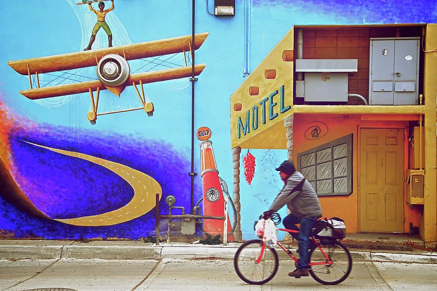 Bicycle Photograph - Recycle, Albuquerque, New Mexico by Zayne Diamond Photographic
