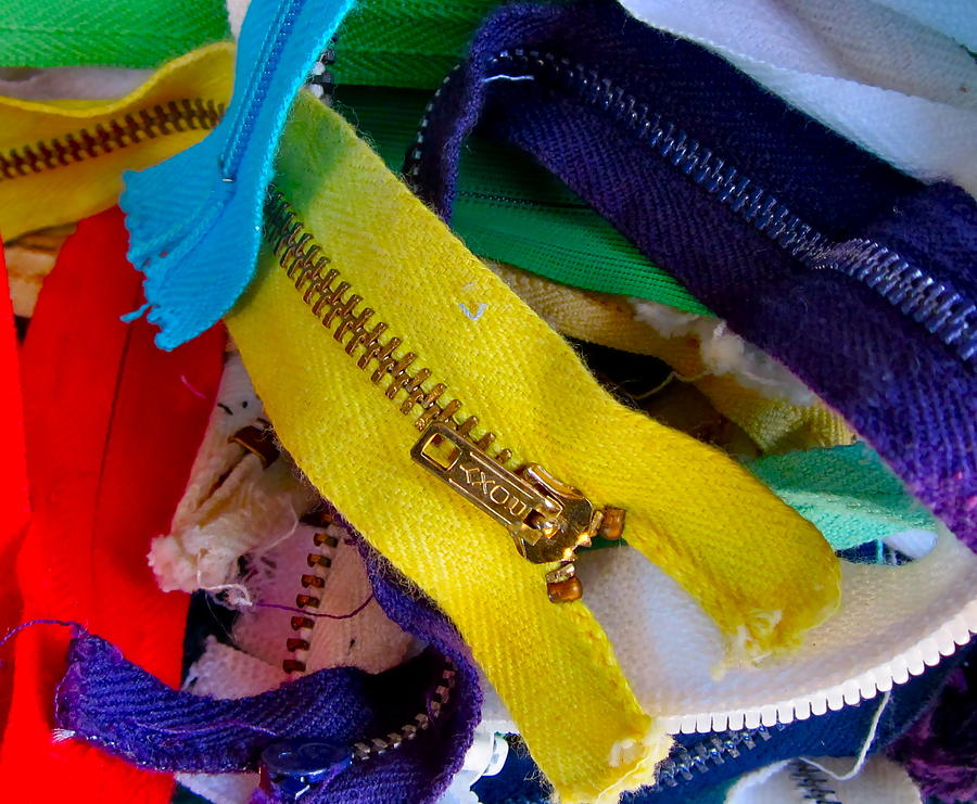 Photograph Of Zippers Photograph - Recycle Your Zippers by Gwyn Newcombe