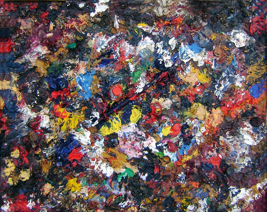 Abstract Painting - recycling I by Nardo Ruggieri