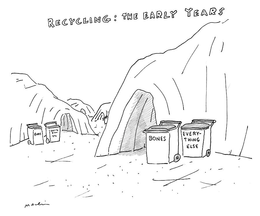 Recycling The Early Years Drawing by Michael Maslin