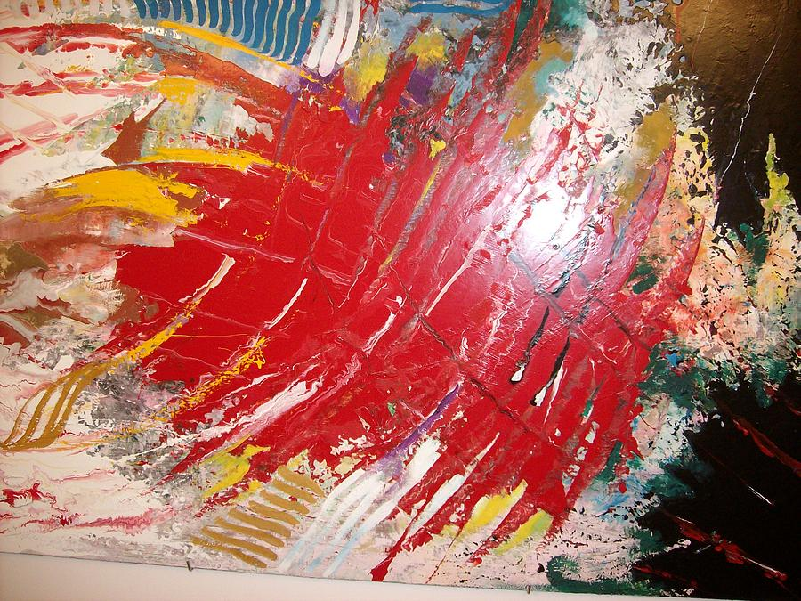 Dream Painting - Red 1 by Khalil Gammoudi