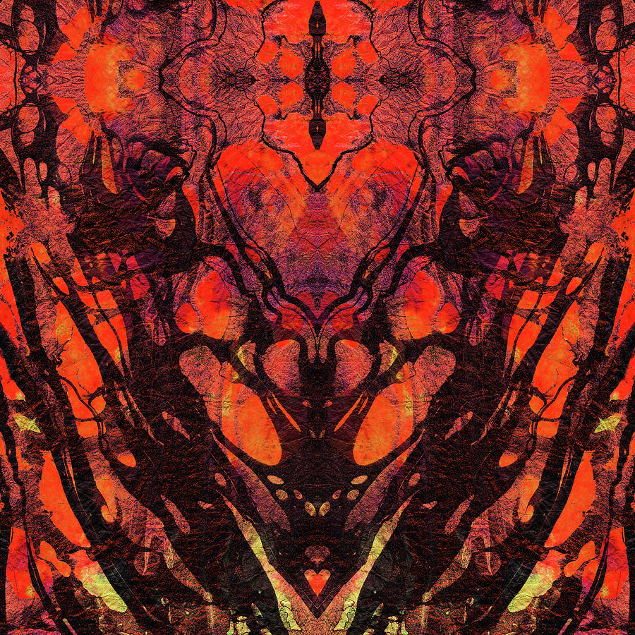 Red Abstract Art Heart Matters Sharon Cummings