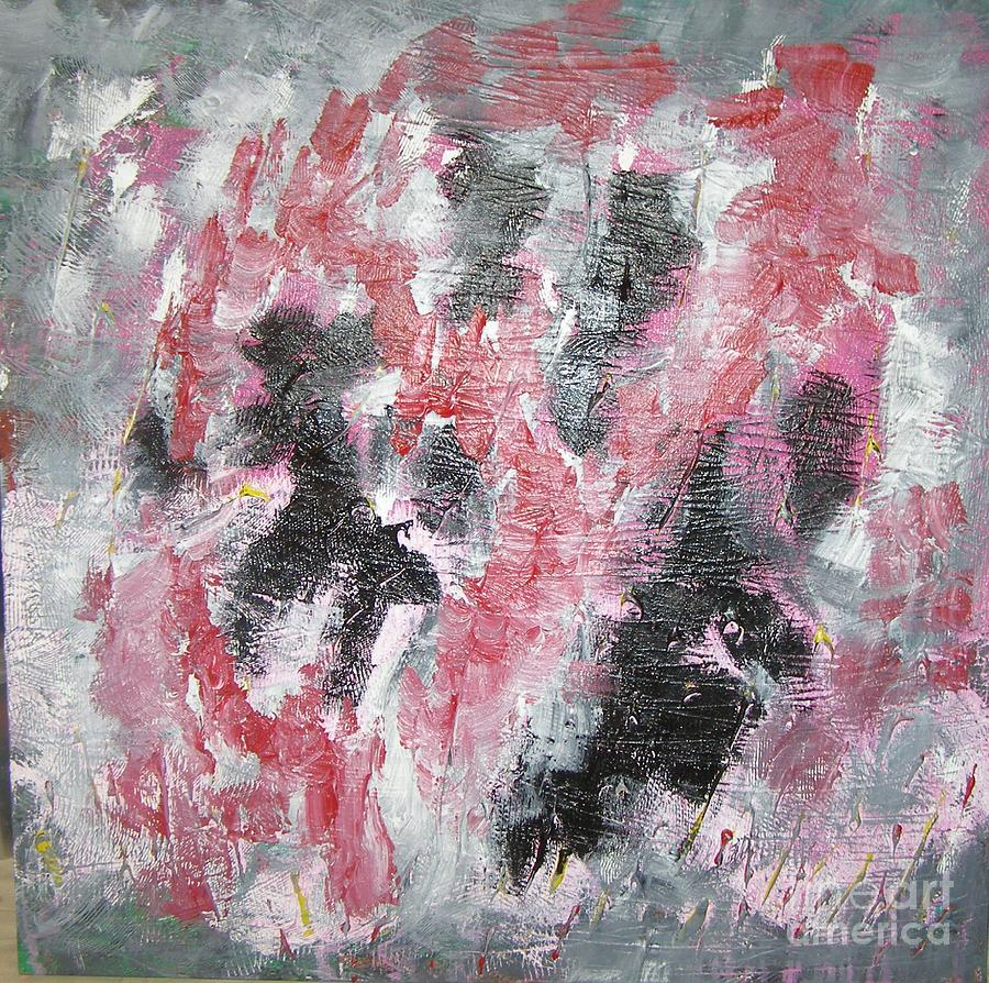 Abstract Painting - Red And Black Dancing by Don Phillips