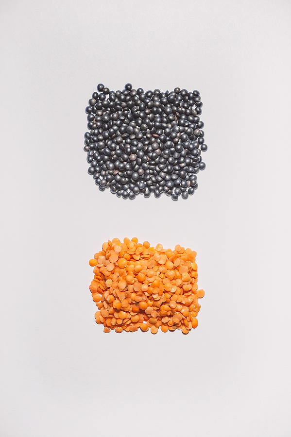 Red And Black Lentils Photograph