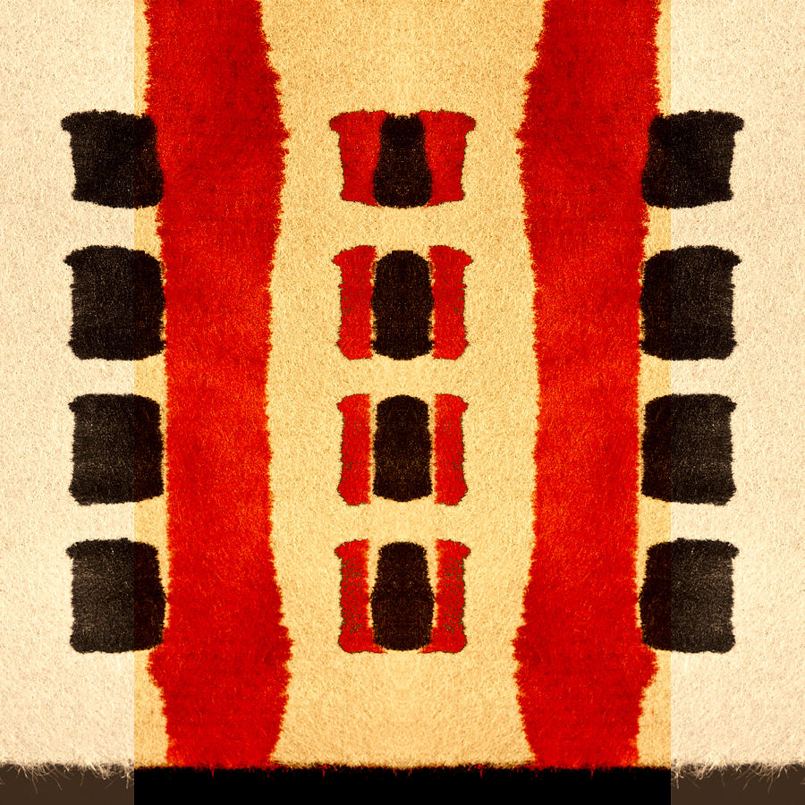 Bold Digital Art - Red and Black Panel Number 3 by Carol Leigh
