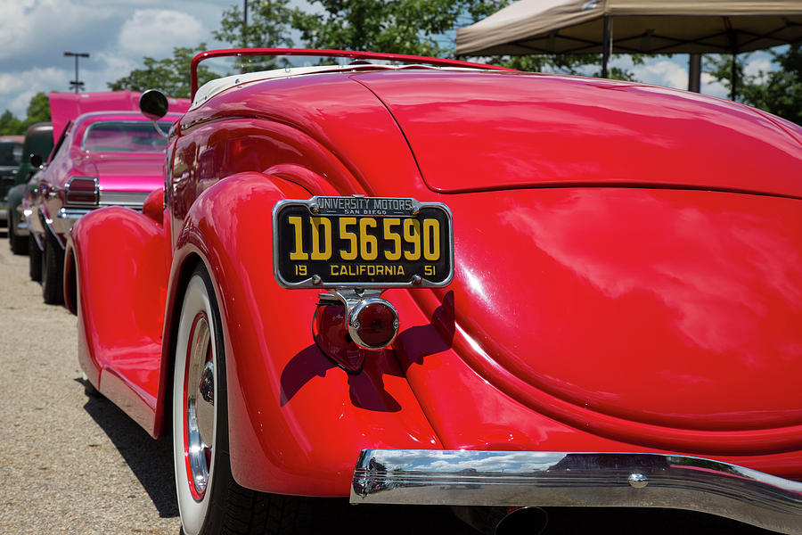 Digital Photograph - Red And Chrome by Jeff Roney
