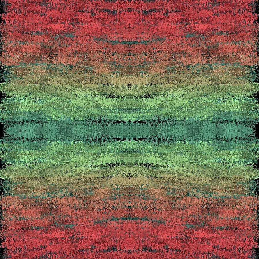 Brandi Fitzgerald Digital Art - Red And Green Abstract by Brandi Fitzgerald
