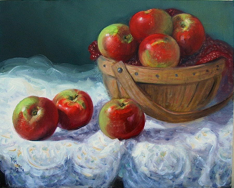 Realism Painting - Red and Green by Donelli  DiMaria