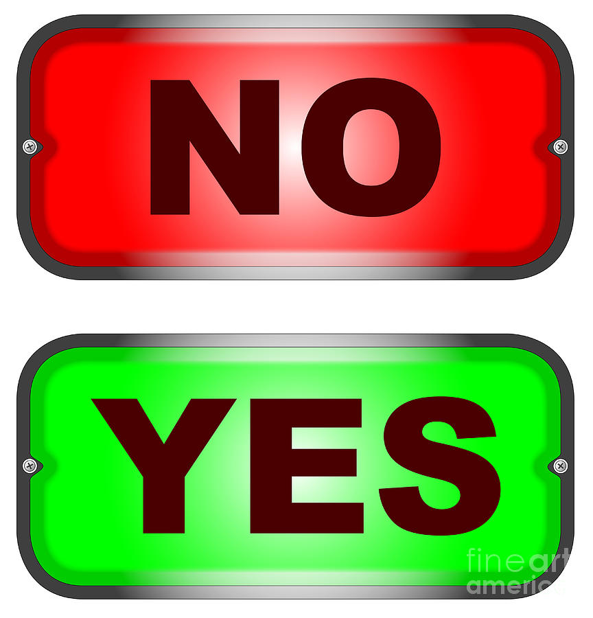Yes No Sign Casino