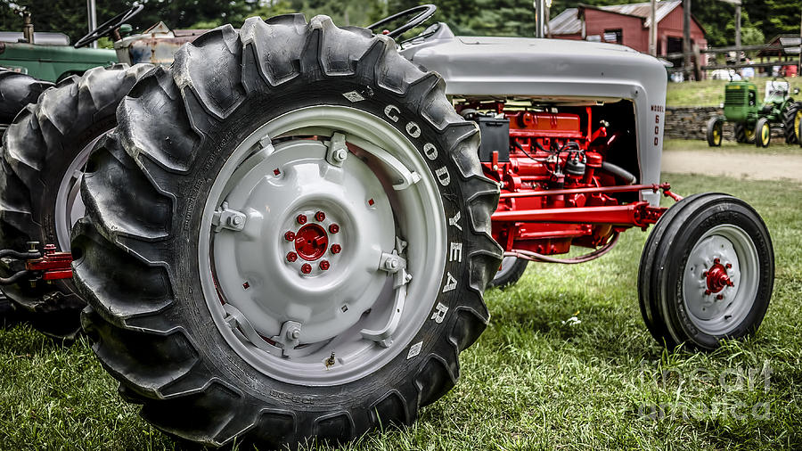 600 Ford Tractor Model : Red and white ford model tractor photograph by edward