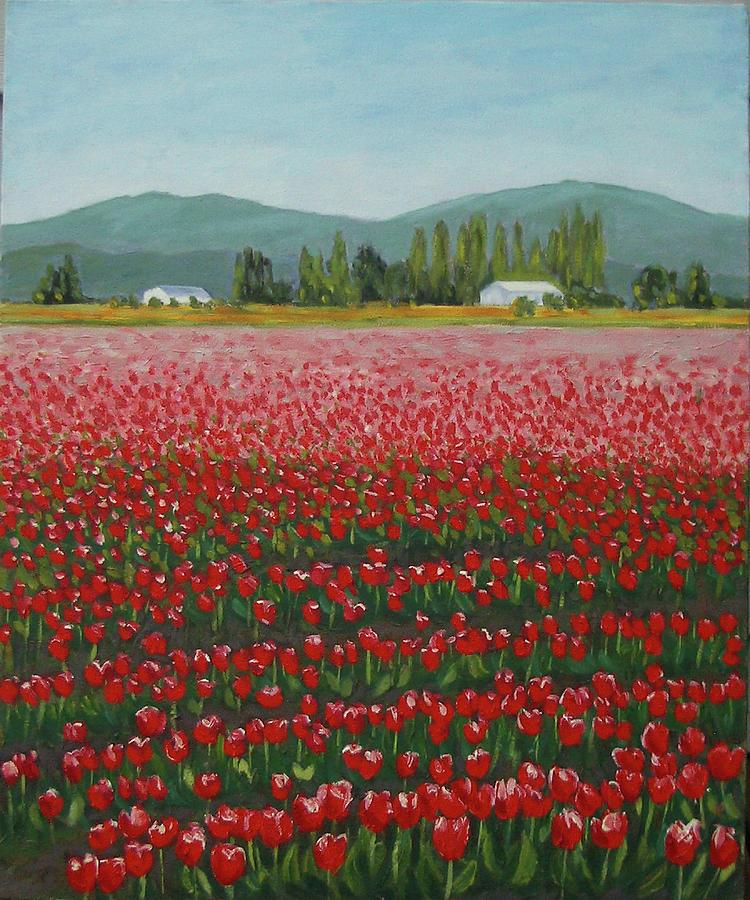Red and White Tulips by Stan Chraminski
