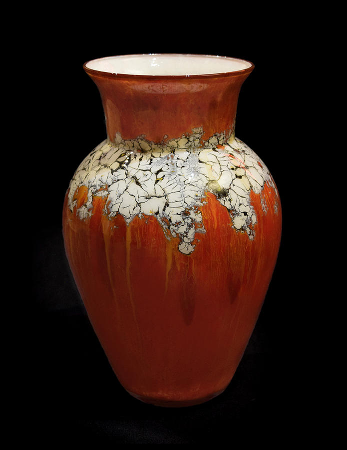 Red and White Vase by Christopher Schranck