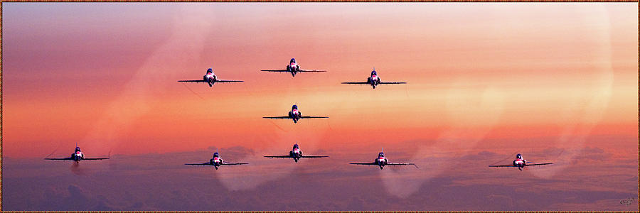Dawn Photograph - Red Arrows At Dawn by Chris Lord