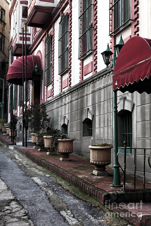 Architecture Photograph - Red Awning by John Rizzuto