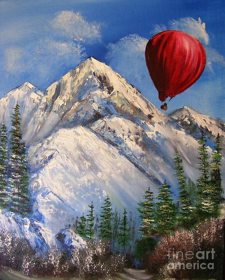 Nature Painting - Red Balloon  by Crispin  Delgado