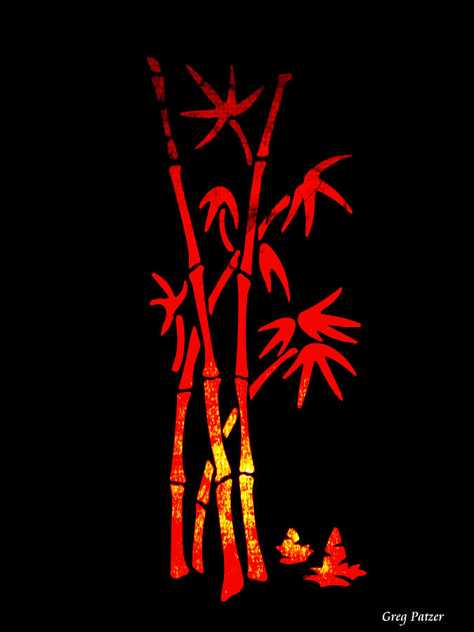 Patzer Photograph - Red Bamboo by Greg Patzer