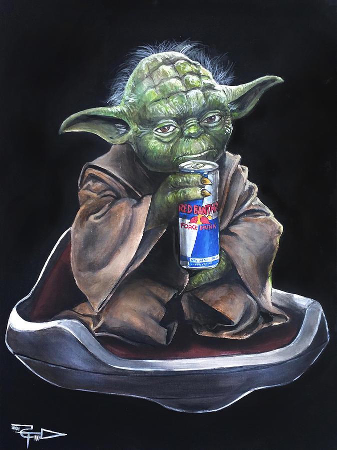 Yoda Painting - Red Bantha by Tom Carlton