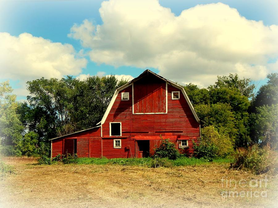 Red Barn, Abandoned Photograph