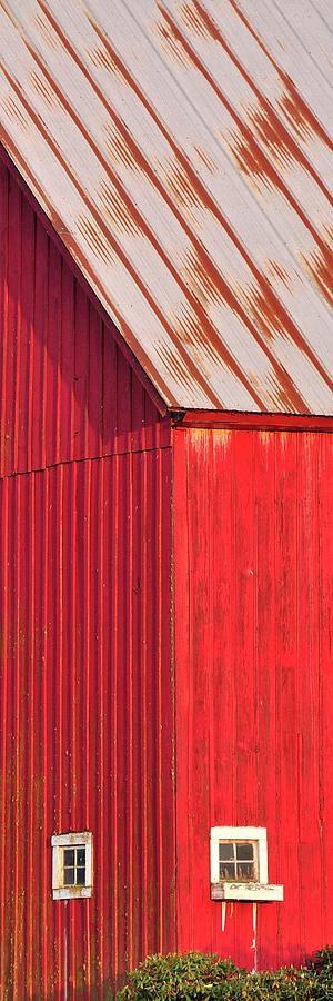 Red Barn Corner Windows 7x21 Photograph